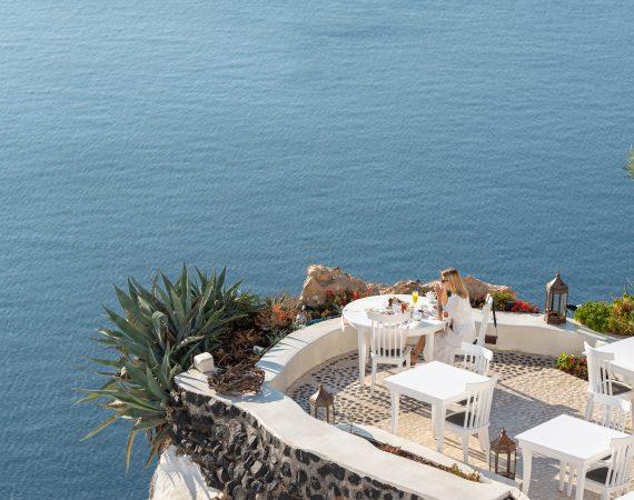 Breakfast at Lycabettus Restaurant, Santorini
