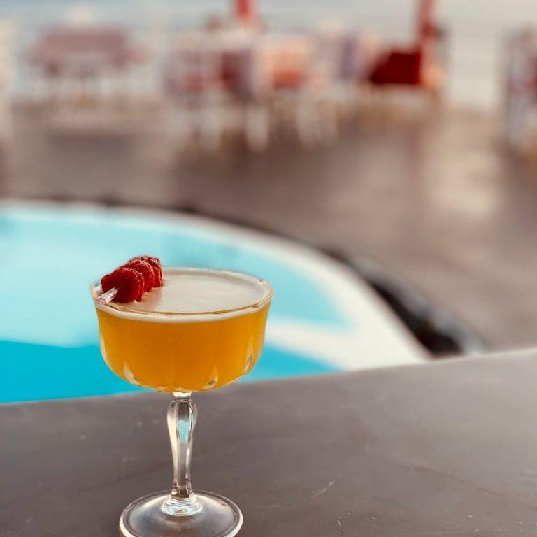 Summertime Cocktail in Lauda Restaurant, Santorini