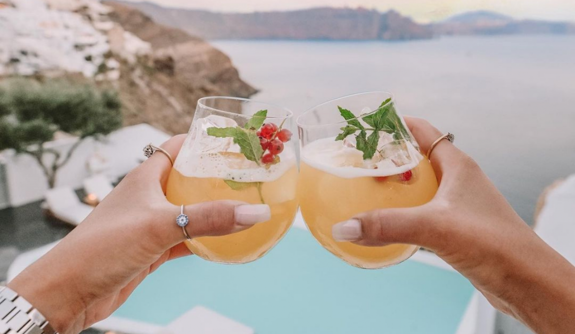 Cocktails in Andronis Luxury Suites, Santorini