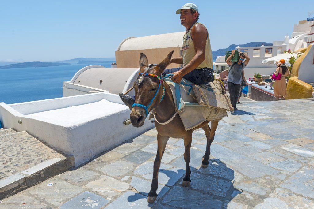 Local in Santorini, Greece