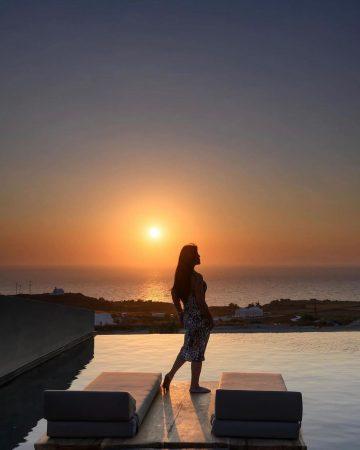 Sunset View at Pacman Restaurant, Santorini