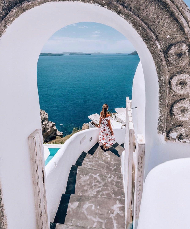 Stairs of Alta Mare Hotel in Santorini