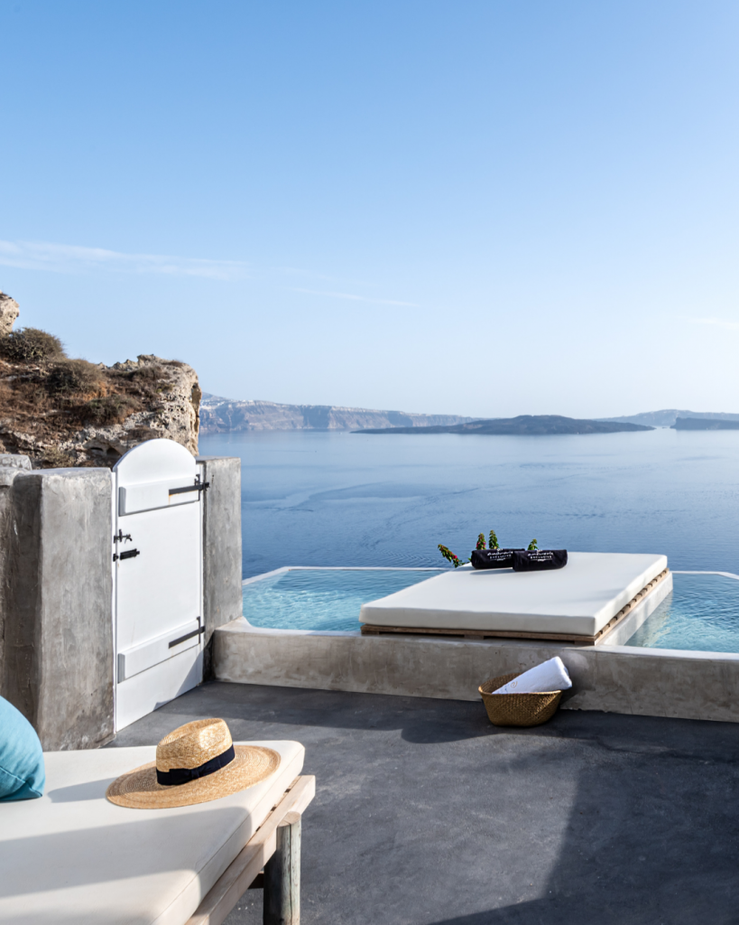 Terrace of Signature Suite in Andronis Boutique Hotel
